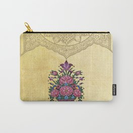 Mandala Persian Tile (yellow) Carry-All Pouch