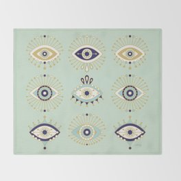 Evil Eye Collection Throw Blanket