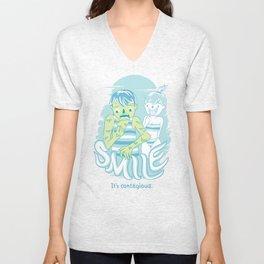 Smile It's contagious :D Unisex V-Neck
