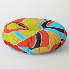 Composition #22 by Michael Moffa Floor Pillow