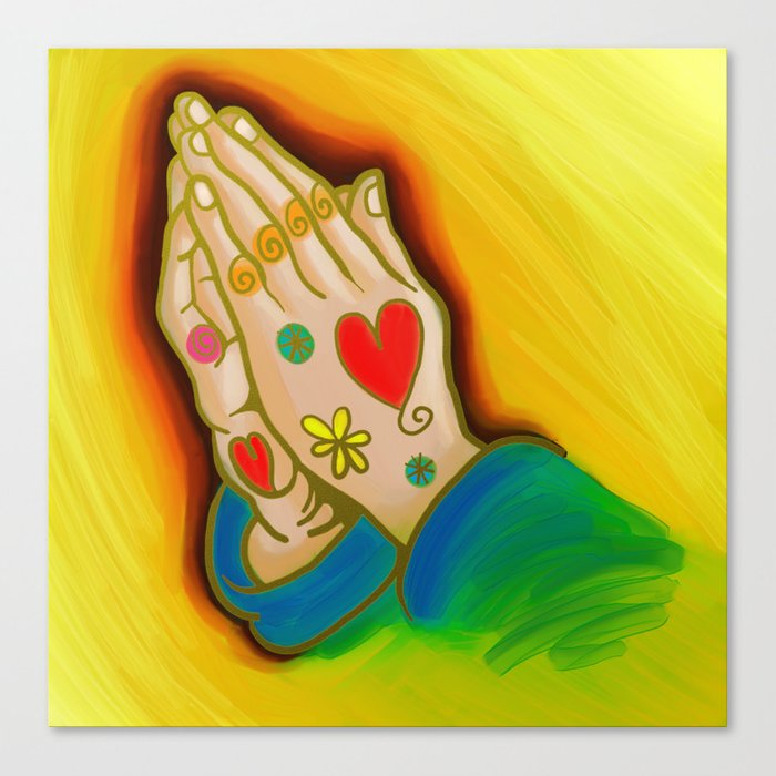 Praying Hands Painting Canvas Print
