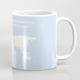 Dr. Seuss inspirational quote with earth outline Coffee Mug