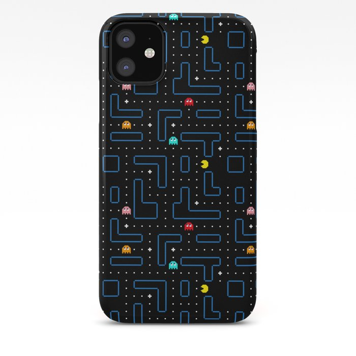 Pac Man Retro Arcade Video Game Pattern Design Iphone Case By Pttrn