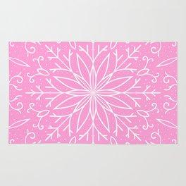 Single Snowflake - Pink Rug