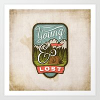 camp Art Prints featuring Camp by Seaside Spirit