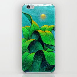 Desert plant iPhone Skin