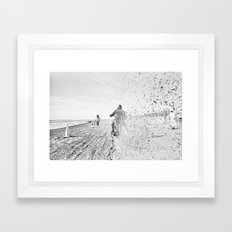 The Race of Gentlemen bw 12 Framed Art Print