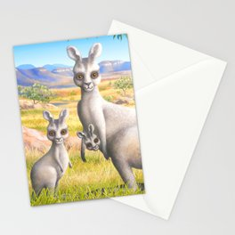 Kangaroo, Wallaby and Joeys Stationery Cards