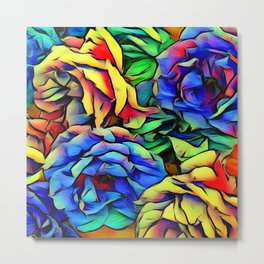 Floral ArtStudio colorful roses Metal Print