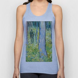 Undergrowth with Two Figures by Vincent van Gogh Unisex Tank Top