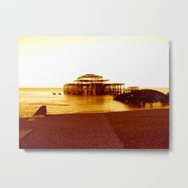 brighton west pier (07) Metal Print