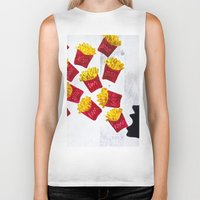 fries Biker Tanks featuring Oh fries by Drica Lobo Art