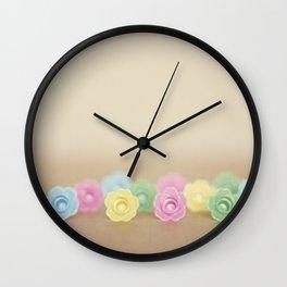 Plastic Flowers 2 Wall Clock