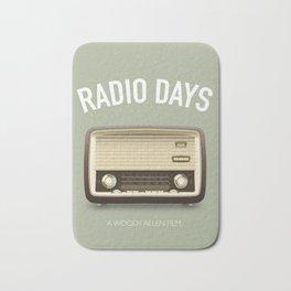 Radio Days - Alternative Movie Poster Bath Mat