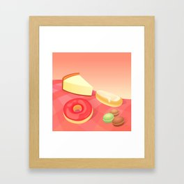 French Vanilla Framed Art Print