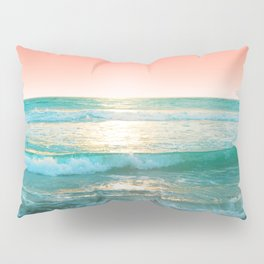 Aqua and Coral, 1 Pillow Sham