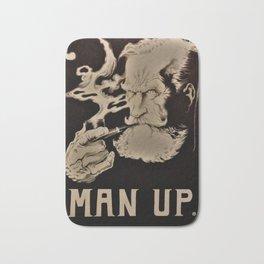 MAN UP B&W Bath Mat