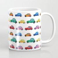 italian Mugs featuring Italian cars  by Katerina Izotova