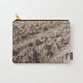 Texture of the land plowed by a plow field Carry-All Pouch