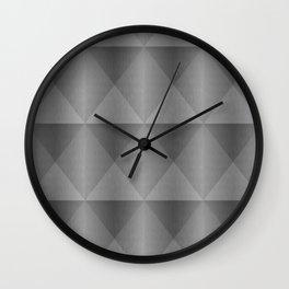 Modern Industrial Harlequin Tile Pattern Wall Clock