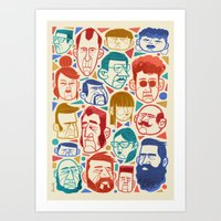 faces Art Prints featuring Faces by Lawerta