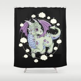 Dragon in the Clouds Shower Curtain