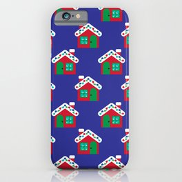 Christmas Gingerbread House Pattern iPhone Case