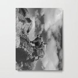 Mountain Goats B&W Metal Print