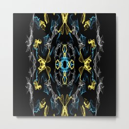 Abstract Silk Drawing Metal Print