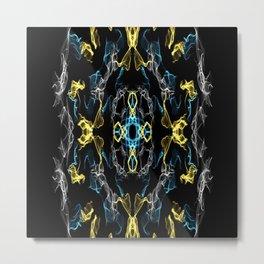 Abstract Silk Drawing Metal Print