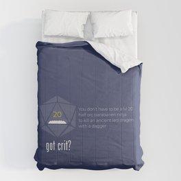 Got Crit? Comforters
