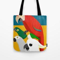 Loud Parrots Tote Bag