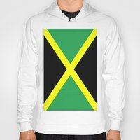 jamaica Hoodies featuring Jamaica Flag by Barrier Style & Design