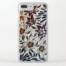 Bellflowers Clear iPhone Case