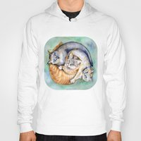 cuddle Hoodies featuring Cuddle Cats by Lucy's Visual Fling