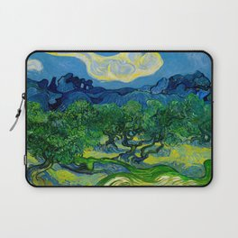 Olive Trees by Vincent Van Gogh Oil Painting Laptop Sleeve