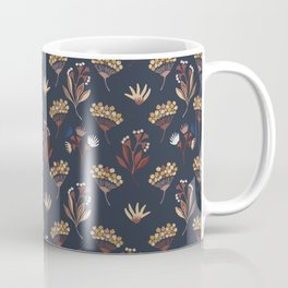 Navy Blue Seed Pods Coffee Mug