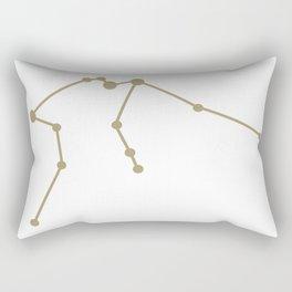 Aquarius (Sand & White) Rectangular Pillow