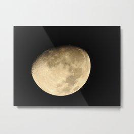 moon universe planet galaxy star night dark Metal Print