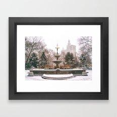 Winter in New York City Framed Art Print