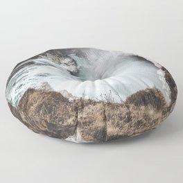 Gullfoss - Landscape Photography Floor Pillow