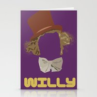 willy wonka Stationery Cards featuring Willy Wonka and you by Ally Simmons