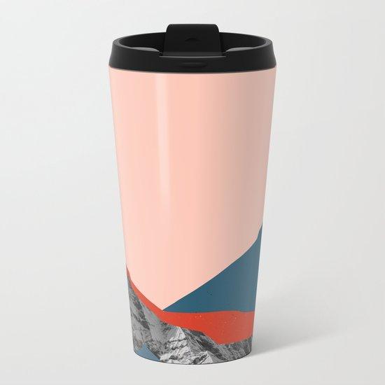 Graphic Mountains Metal Travel Mug
