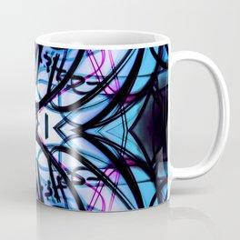 Loopy Lines Abstract Art Sky Blue Coffee Mug