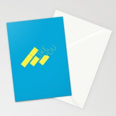 I Like You Graphik: Yellow Type Stationery Cards