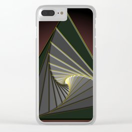 Spirale sombre, 2150d Clear iPhone Case