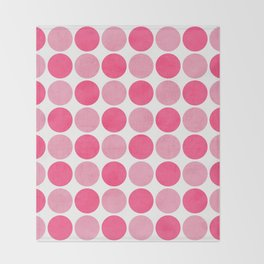 the pink dots Throw Blanket