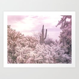 Prickly in Pink Art Print