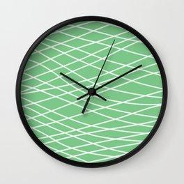 Sage Slanting Brush Strokes Wall Clock
