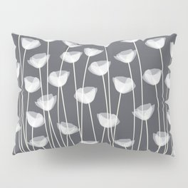 White Poppies Pillow Sham